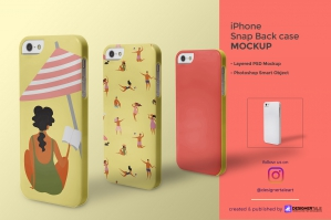 iPhone Snap Back Case Mockup